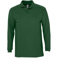 POLO PIQUÉ M/COMP 3 BOT WINTER VERDE GOLFE